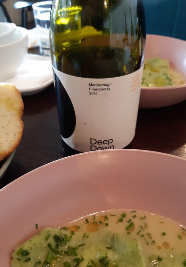 Deep Down Chardonnay with crayfish