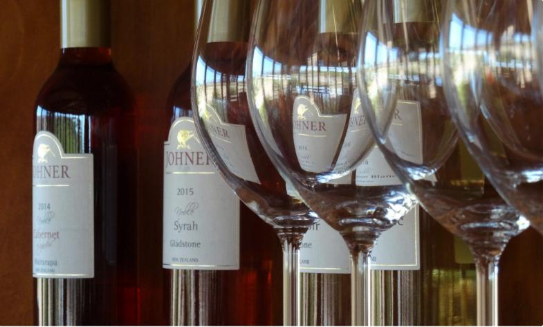 Bottles of wine from Johner