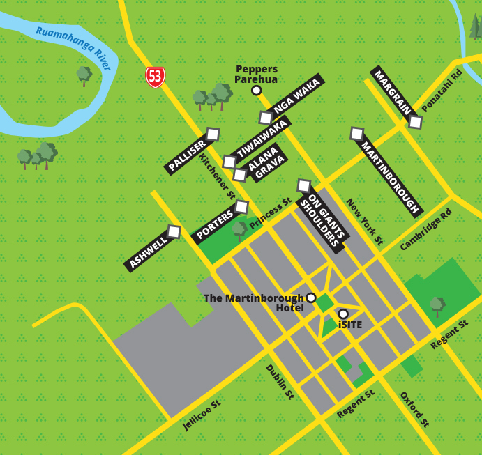 Martinborough wine map part 1